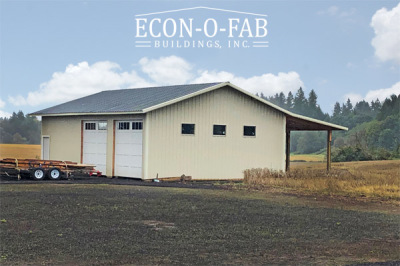 30' x 40' x 12' agricultural pole building in Cornelius